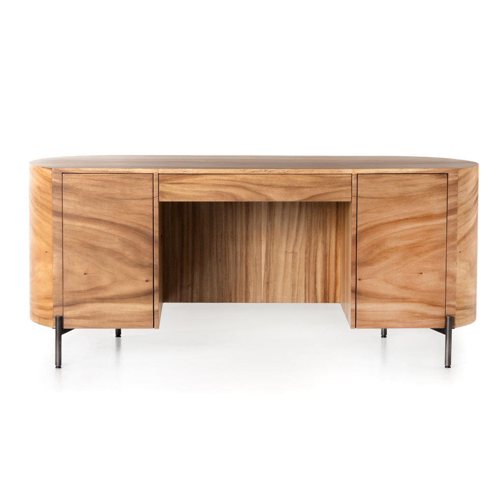 LUNAS EXECUTIVE DESK-GOLD GUANACASTE | NEW