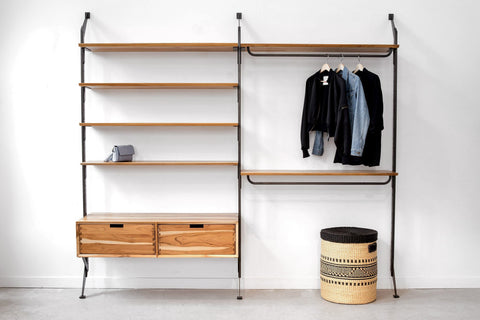 "Apollo Bedroom System + 48"" Wardrobe Storage"