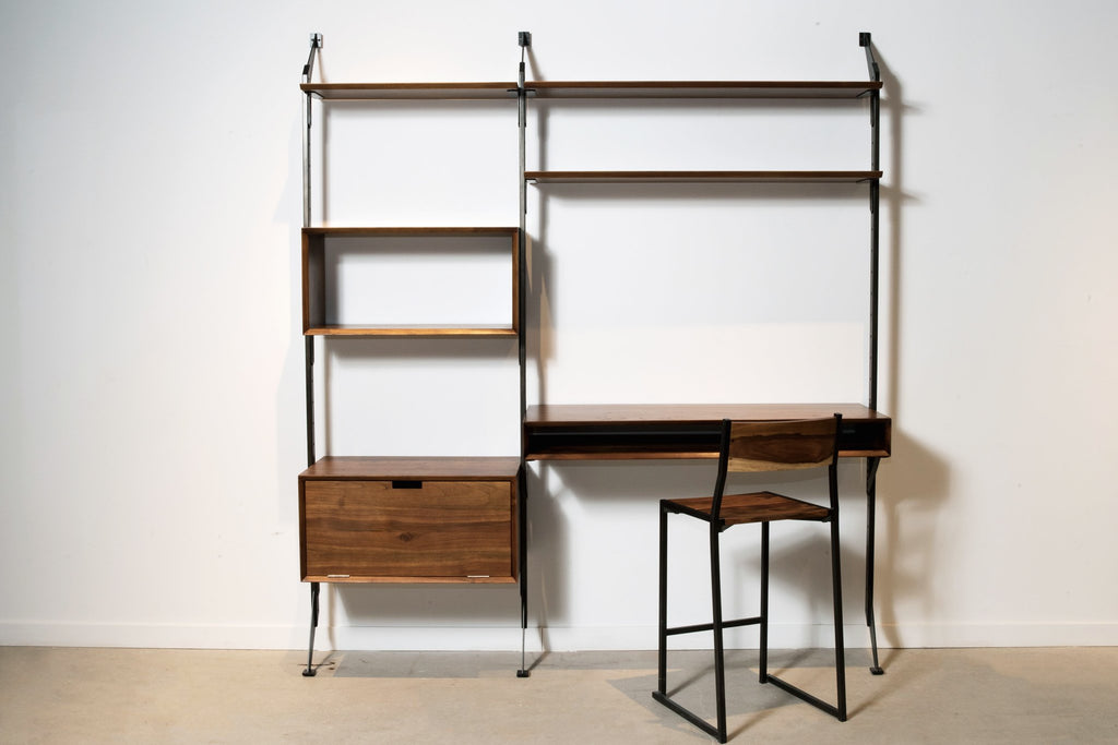 Apollo Wall System Desk Storage