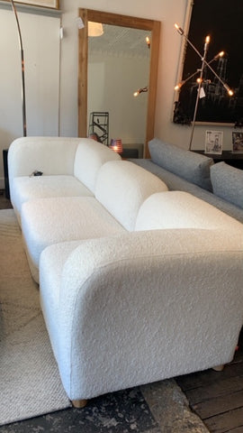 Circuit Modular 3-pc Sofa in Himalaya Cloud - floor sample