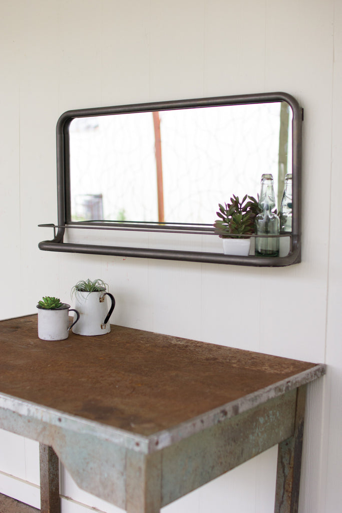 Metal Frame Horizontal Mirror