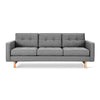 Jane 2 Sofa Nat/Walnut Finish Base New