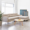 Logan Bi-Sectional Sofa (Stainless base)