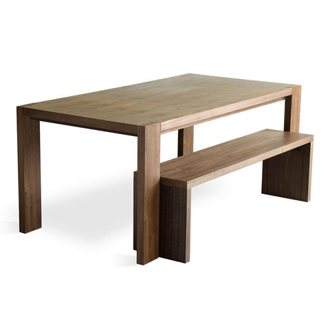 Plank Dining Table & Bench