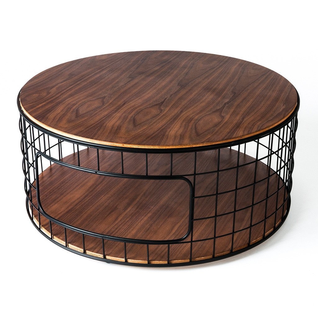 Wireframe Coffee Table Walnut