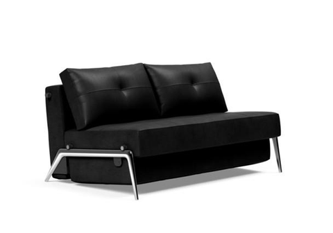 Cubed Queen Size Sofa Bed With Chrome Legs
