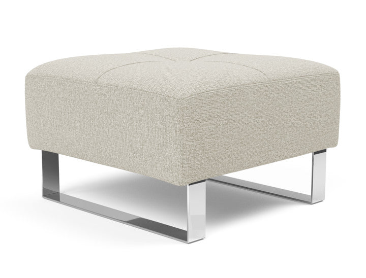 DELUXE EXCESS OTTOMAN, CHROME