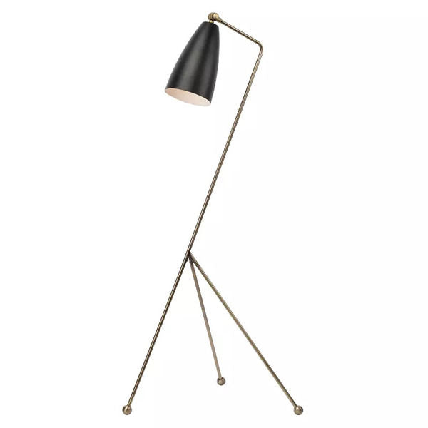LUCILLE FLOOR LIGHT BLACK ANTIQUE BRASS