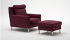 High Back Streamline Chair with Ottoman by Eilersen