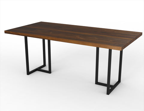 The Tee + Lurus Straight Edge Dining Table