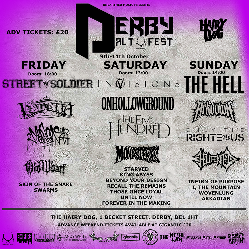 DERBY ALT FEST 2020 FULL LINE UP