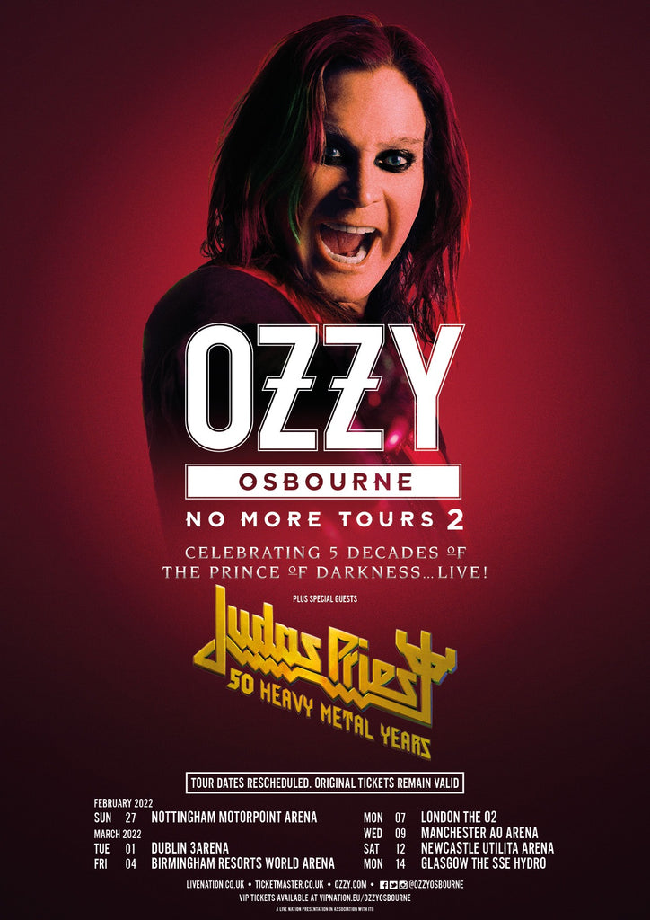 OZZY OSBOURNE NO MORE TOURS 2 RESCHEDULED... AGAIN!
