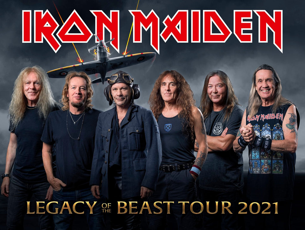 IRON MAIDEN RESCHEDULE LEGACY OF THE BEAST TOUR 2021