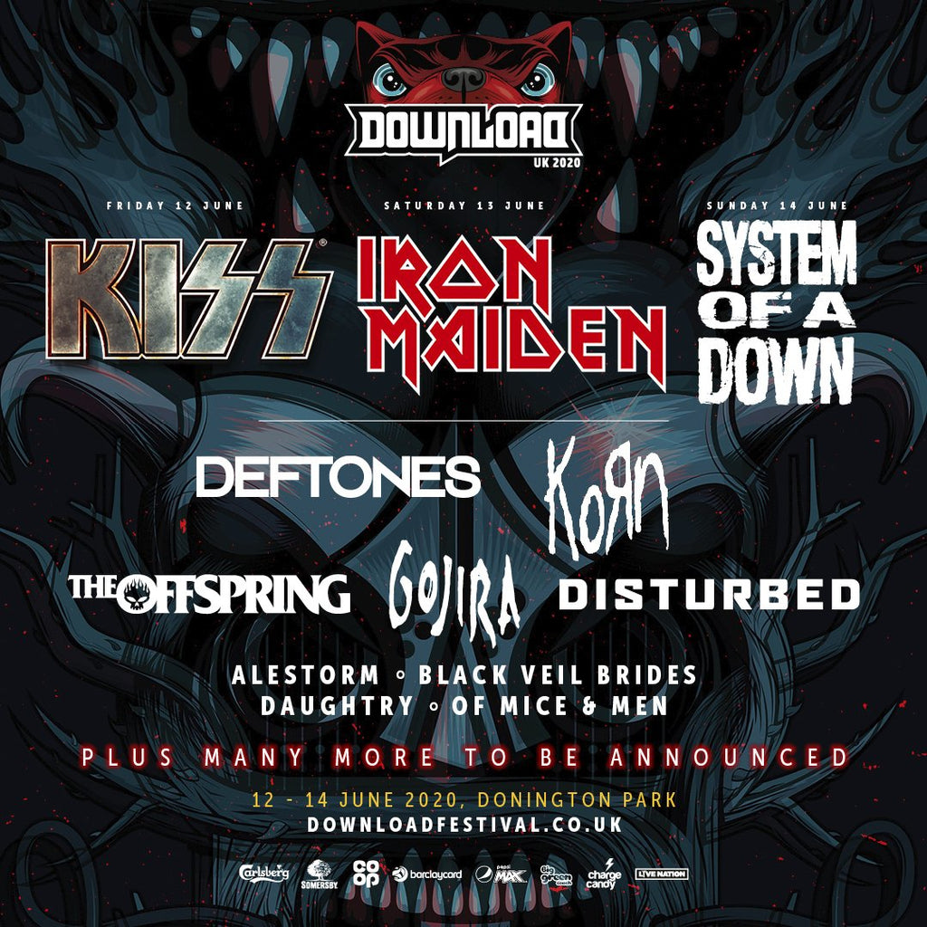 DOWNLOAD FESTIVAL NOVEMBER 2019 LINE UP