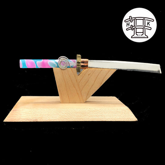 Hardwood Katana - Cotton Candy Blade with Stand Dabber - Onpointsmoke