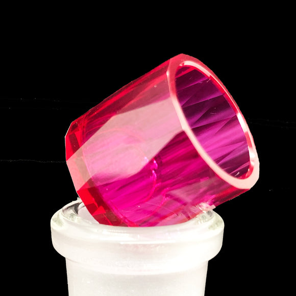 On Point Smoke Shop - Faceted Ruby Insert 18 mm x 16 mm - Onpointsmoke