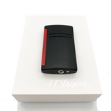 S.T Dupont- S.T Dupont Lighter MaxiJet Black with Red Finish w/Gas - Onpointsmoke