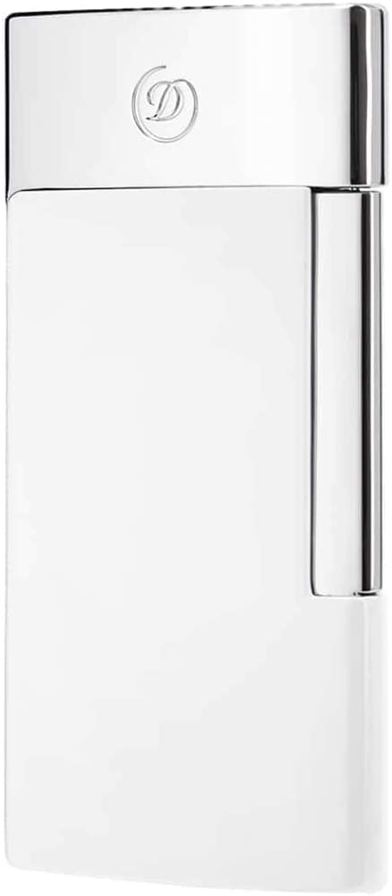 S.T Dupont- S.T Dupont Lighter E-Slim 7 Chrome with White Finish - Onpointsmoke