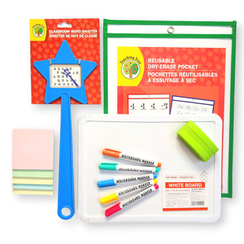 early elementary school supply dry erase supply kit for preschoolers, kindergarten, and 1st grade