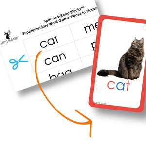 Supplementary Word Game Piece to accompany Spin-and-Read Flashcard Set