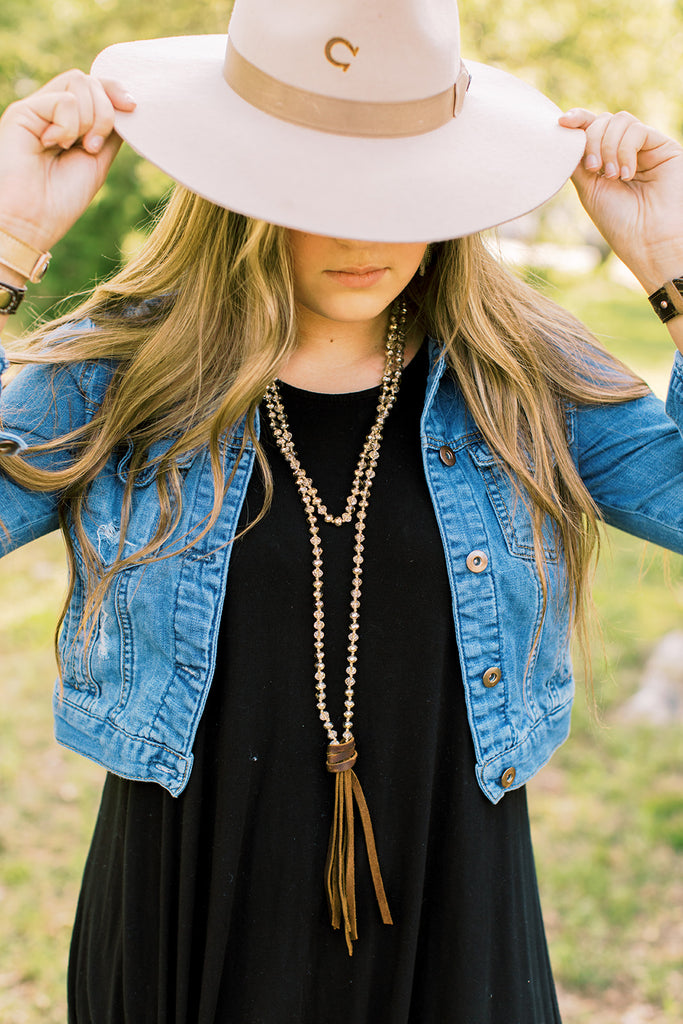 Mystery Necklace // Leather Tassel