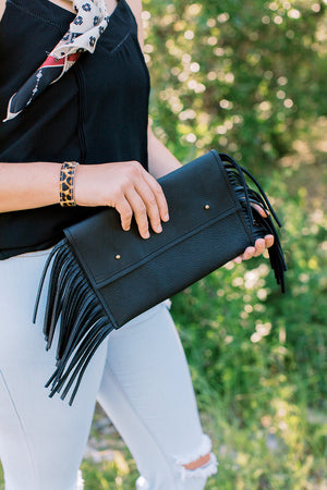 Flirty Fringe // Leather Clutch