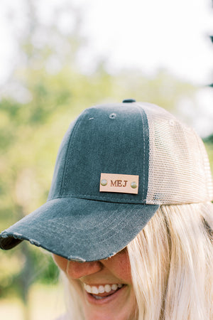 Black Denim Hat // Customize Me