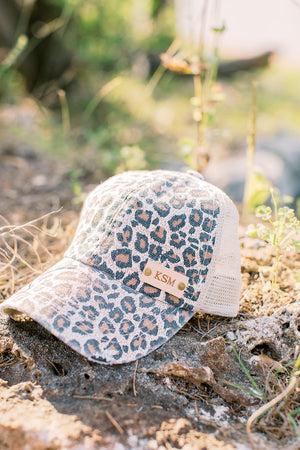 Blonde Leopard Hat // Customize Me