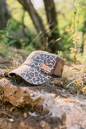 Brown Leopard Hat // Customize Me