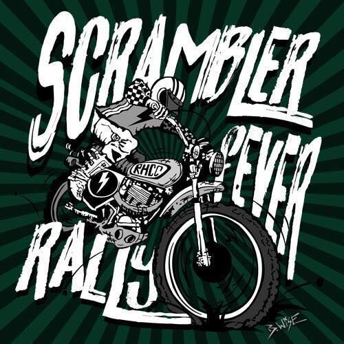 Scrambler Fever custom motorcycle Rally poster