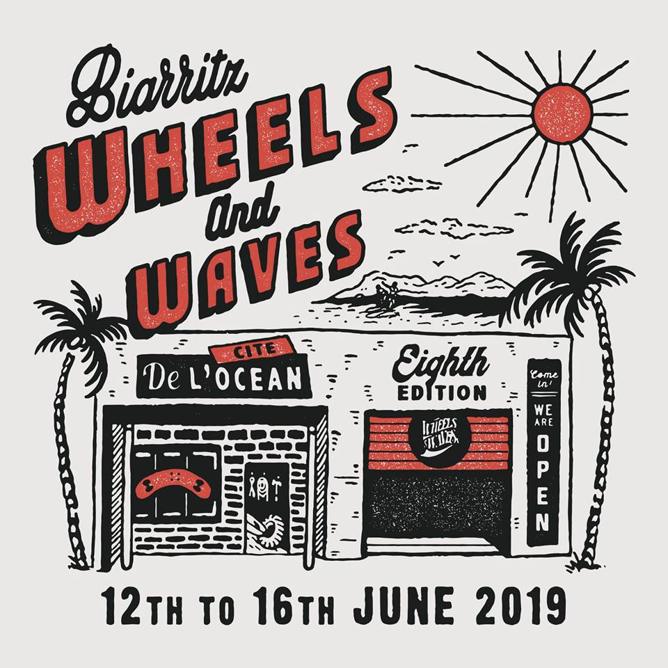 Wheels and Waves Festival 2019 poster