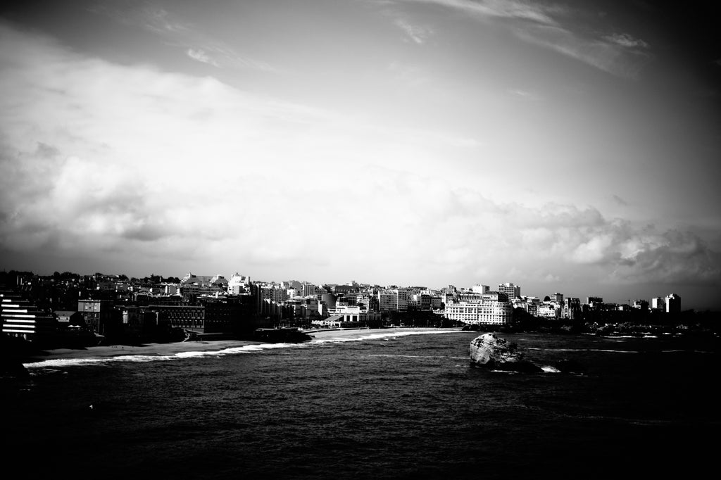 Biarritz urban shoreline as seen from the lighthouse