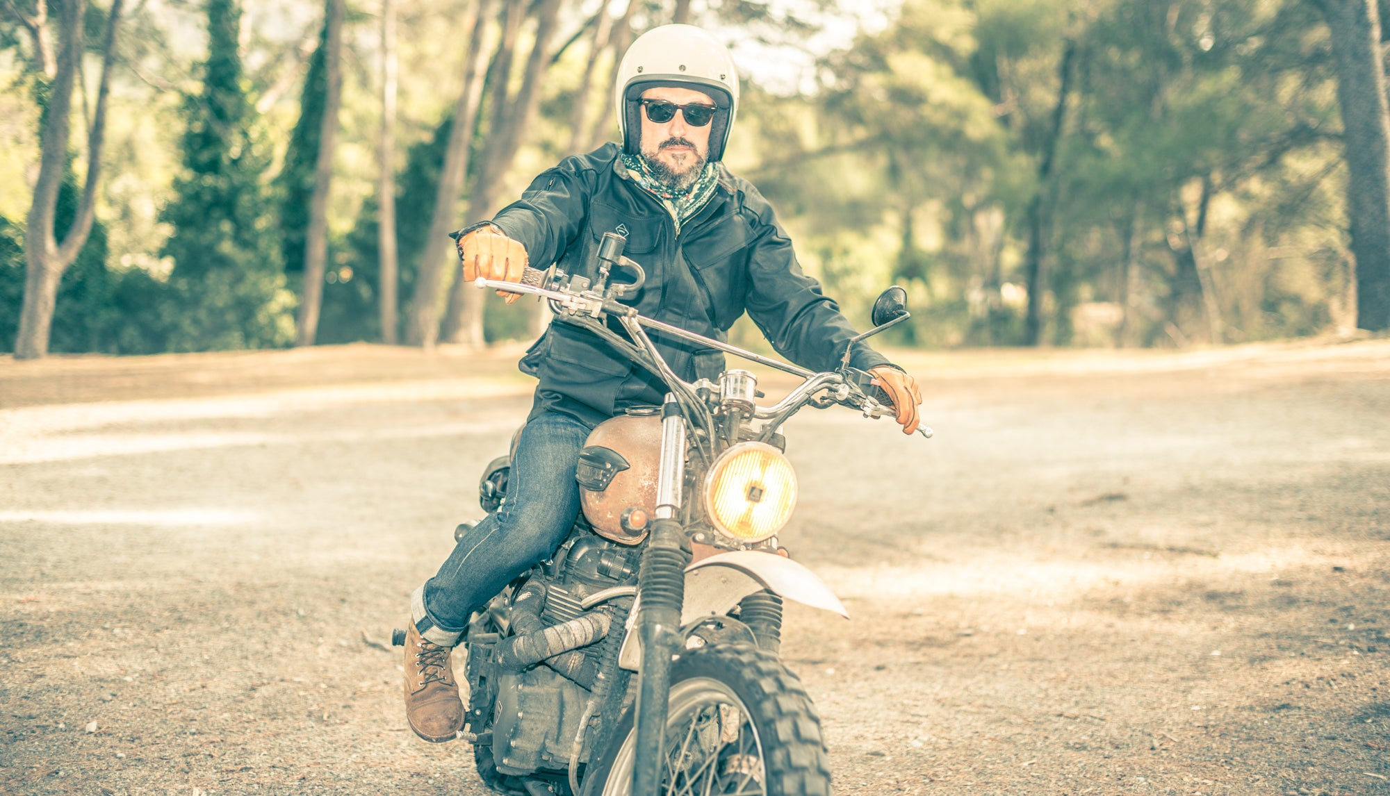 Waxed Trophy Jacket - motorcycle Armalith armour jacket