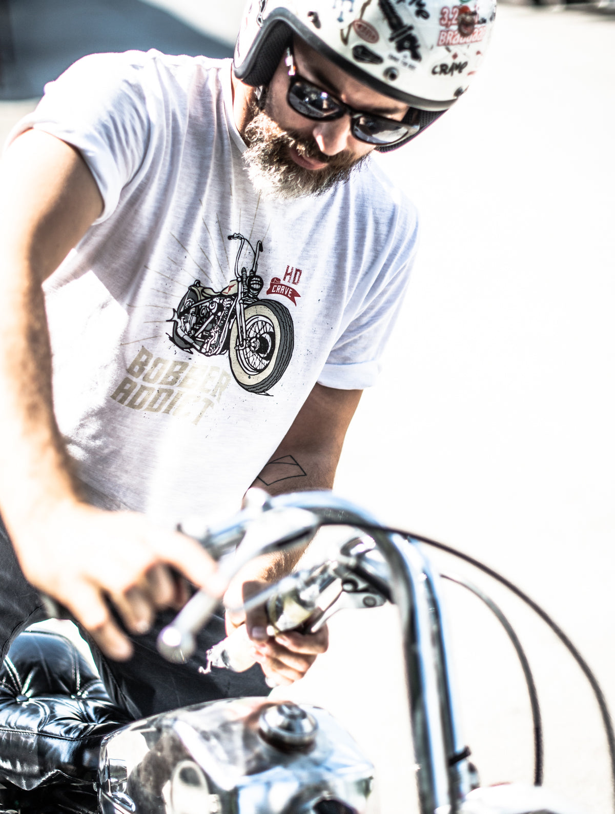 Motorcycle T-shirt - Bobber Addict
