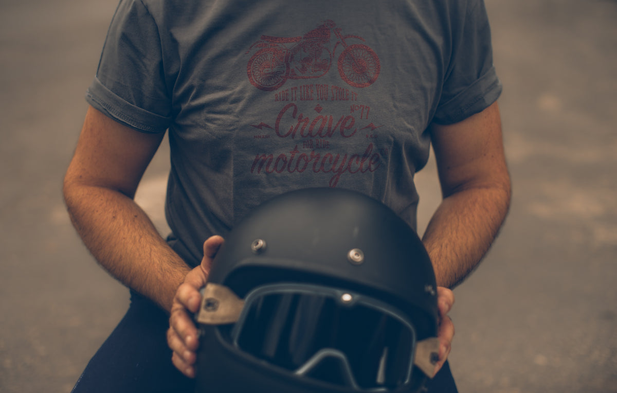 Motorcycle T-shirt -  Scrambler - grey