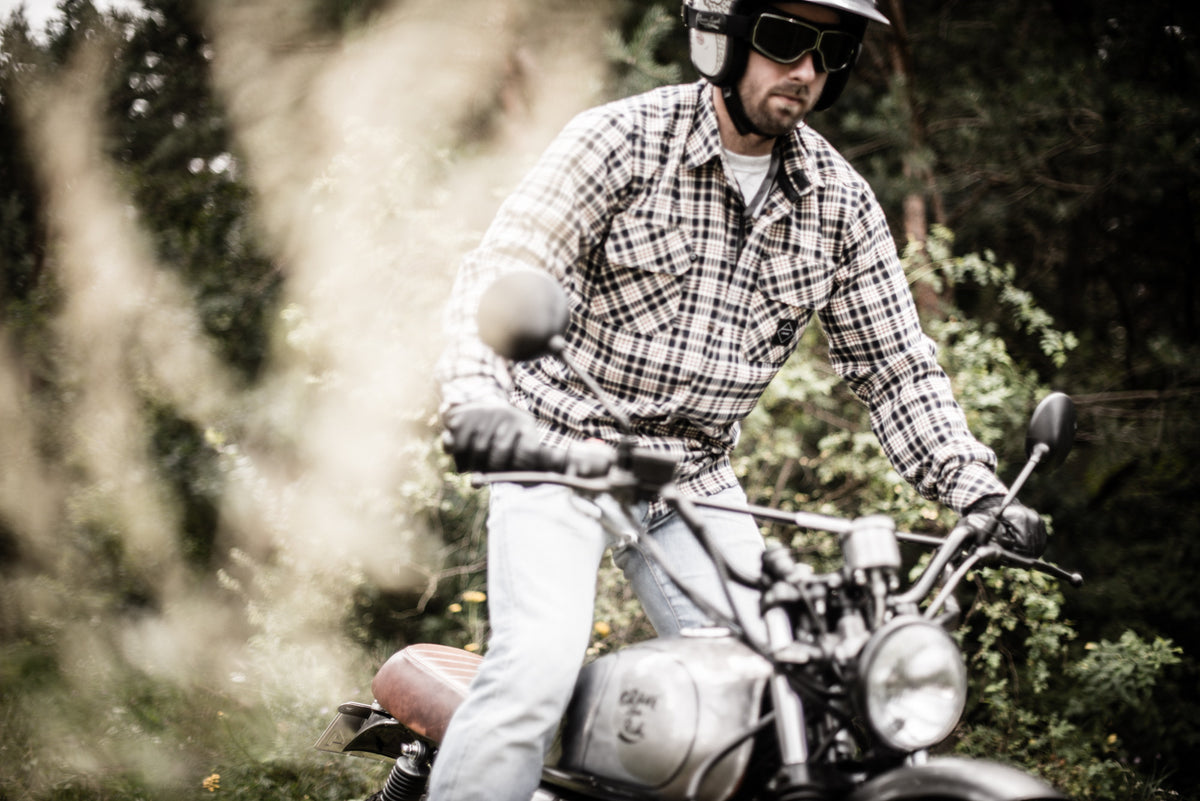Baja Motorcycle Shirt - Internal: 100% DuPont™ Kevlar® Outer: 97% Cotton 3% Acrilic