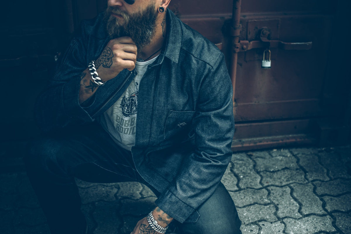 WORKER Motorcycle Jacket – Denim – Internal: 100% DuPont™ Kevlar® Outer: 99% Cotton