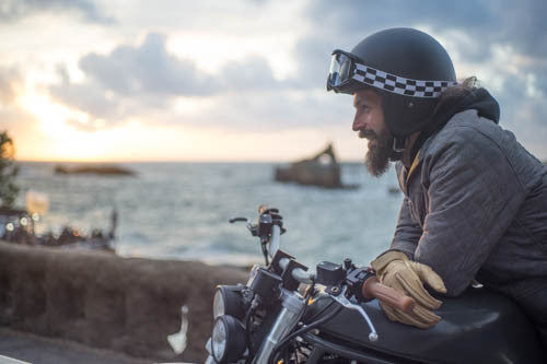 Quilted DUKE Motorcycle Jacket  – Internal: 100% DuPont™ Kevlar® Outer: microfiber/cotton