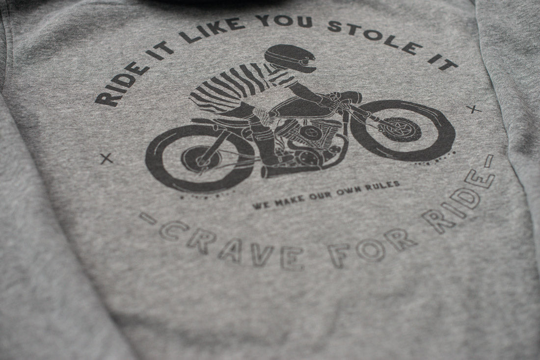 Motorcycle Hoodie - Caferacer HD Ride it like You stole it