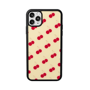 Yellow Cherry iPhone Case