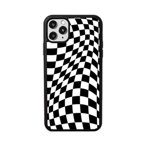 Distorted Checks iPhone Case
