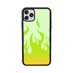 Load image into Gallery viewer, Lime Flames iPhone Case