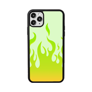 Lime Flames iPhone Case