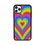 Load image into Gallery viewer, Rainbow Hearts iPhone Case