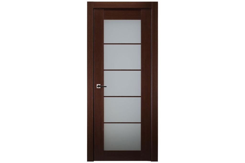 Belldinni 5 Lite French Wenge Wood Veneer Modern Interior Door