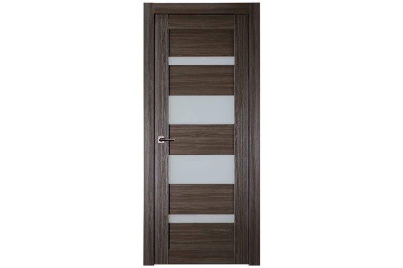Belldinni Mirella Vetro Gray Oak Laminated Modern Interior Door