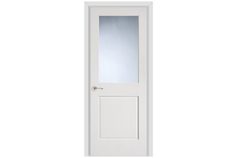 Masonite Artisan 1 Lite Over 1 Panel Wood Interior Door (2081)