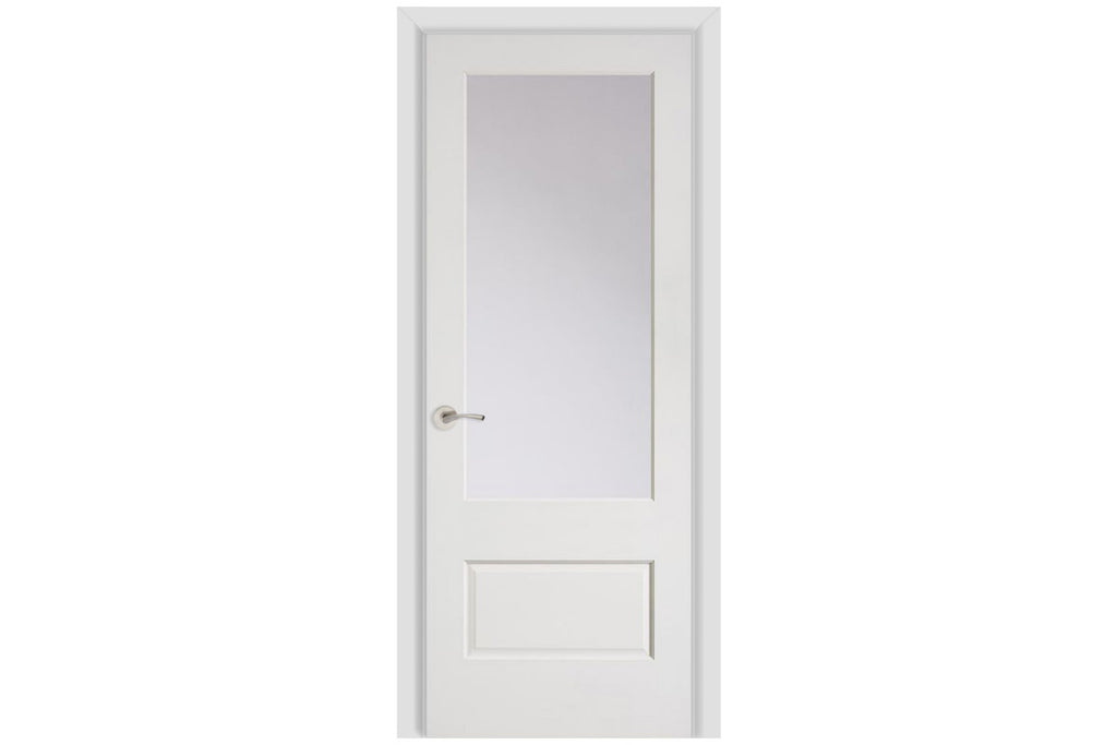 Masonite Artisan 1 Lite Over 1 Panel Wood Interior Door (501)
