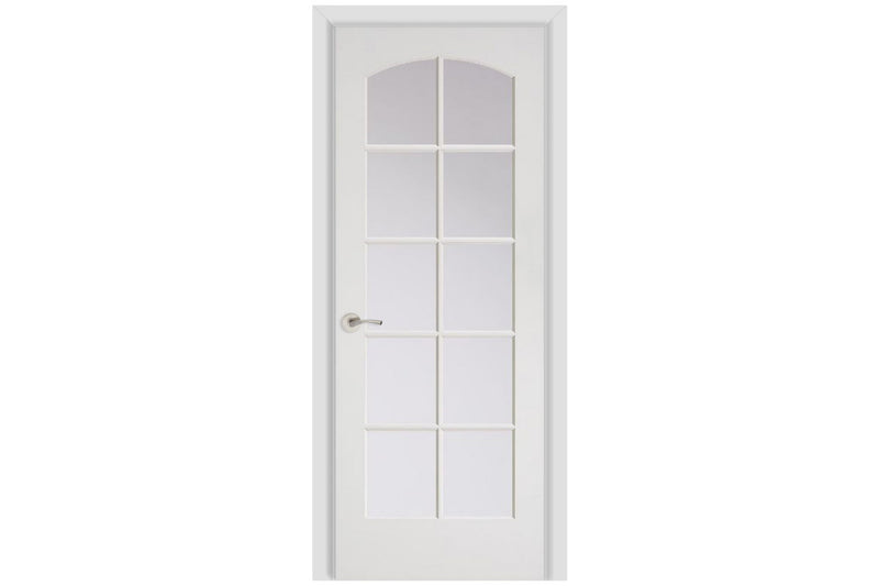Masonite French 10 Lite Camber Top Wood Interior Door (1510A)