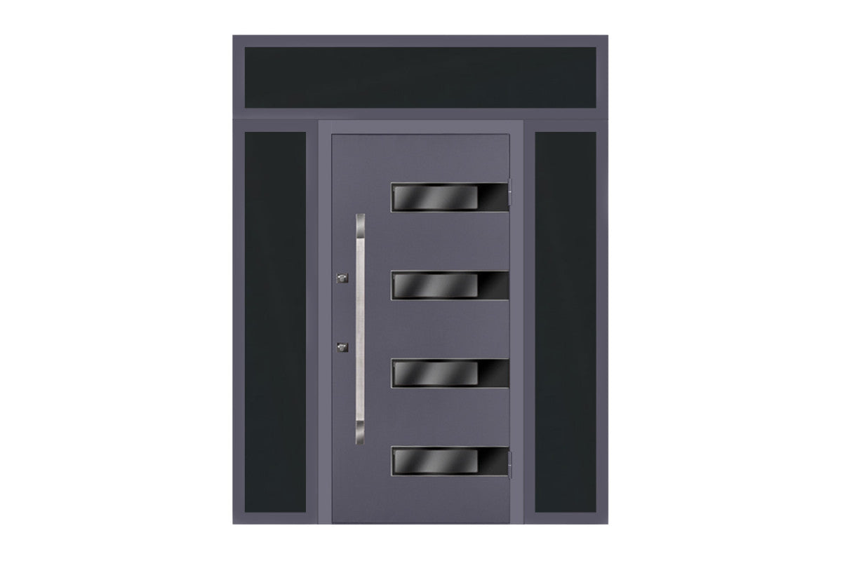 Nova Inox S4 Grey Exterior Door